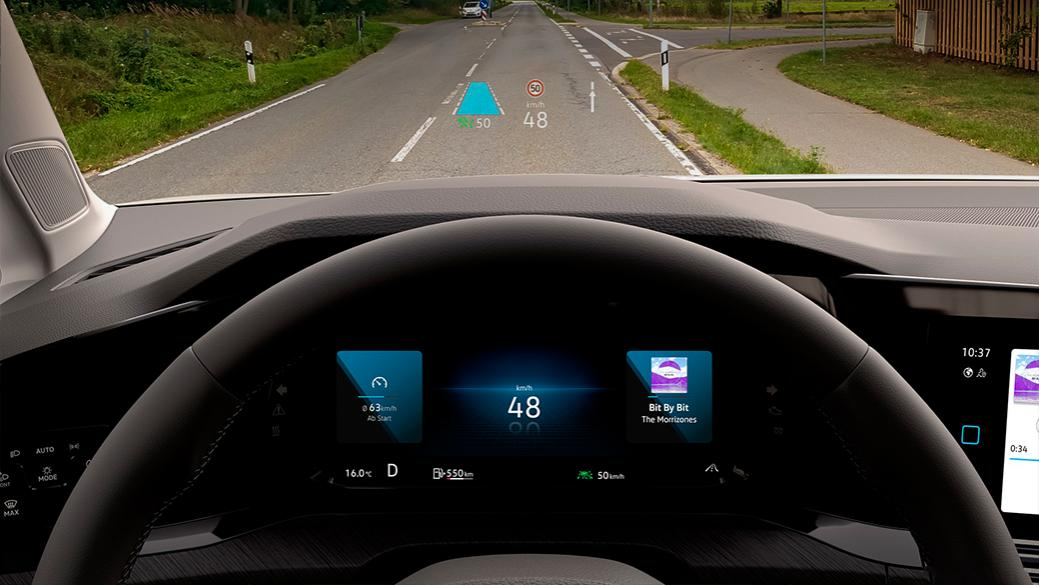 volkswagen golf 8 head up display