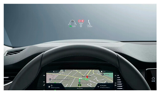 nowa skoda octavia head up display