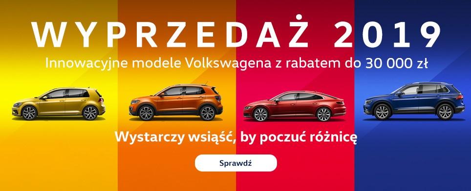 wyprzedaż volkswagen 2019
